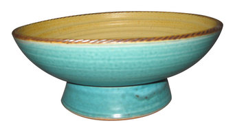 Shallow Waters Pedestal Bowl