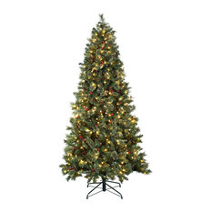 Astella - Astella 7.5' Christmas Tree With 500 Ul-Rated Lights and Stand, Green - Christmas Trees