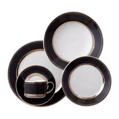 Black Luxe 5-Piece Place Setting