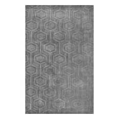 "nuLOOM Hand Woven Monochrome Wool Rug, Gray, 8'6""x11'6"""