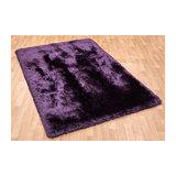 Plush Plush-Purple Rectangle Plain/Nearly Plain Rug 120x170cm