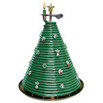 """Eclipse Home D?cor, LLC - 300 Hour Christmas Tree Beeswax Candle - With hours of dreamy candlelight in your Candle by the Hour, you can set the amount of time it burns, hour by glowing hour. Simply feed the pliable bees wax coil through the candle clip in increments of 3 inches or less. Three inches of candle will for approximately 1hour. Set your nights alight with the Candle By The Hour. Burning time is 80 hours.   Features and details: Quirky bees wax candle coil is sculptural like. Candle reaches upwards in a spiral from a metal burning plate with metal calipers griping the candle Unique conversation piece for the living room. Burns as long as you tell it to, then extinguishes itself. Candle size - 5"""" Diam x 10.55""""H. Made in Vietnam."""