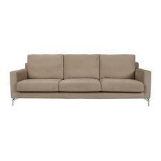 Ecco Velvet Sofa, Sand, 3-Seater