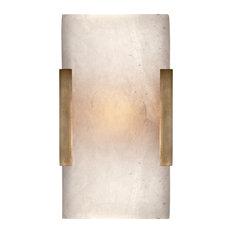 Covet Wide Clip Bath Sconce, Antique-Burnished Brass