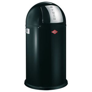 Wesco Pushboy Bin, Black