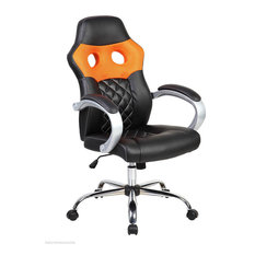 Orange Hatched Racing Office Chair
