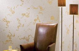 Beadazzled Leaf wallpaper in Bianca Gold Leaf