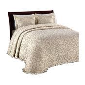 Lamont Home All Over Brocade Bedspread, Linen, King
