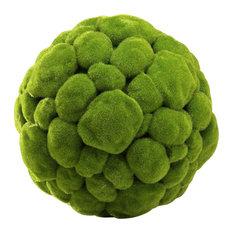 Cyan Large Moss Sphere 02608, Moss Green