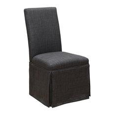 Furniture of America Dokka Dining Side Chair in Dark Gray (Set of 2)