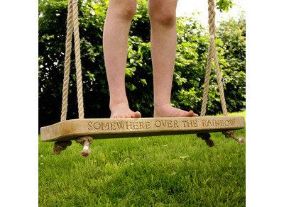 Garden swing - Wooden garden swings - Children garden furniture - Hen And Hammoc