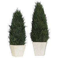 Uttermost Cypress Polyfoam And Crpress Set Of 2 Planter 60140