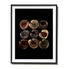 Vintage Catcher's Mitts, Photograph,  Black Frame, 40''x52''