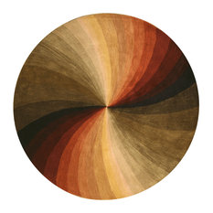 EORC   Hand Tufted Wool Swirl Rug, Multi, 4u0027 Round   Area