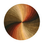 Hand-tufted Wool Multicolored Contemporary Abstract Swirl Rug, 6