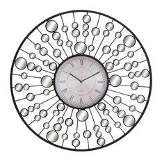 Mayra Metal and Mirror Wall Clock