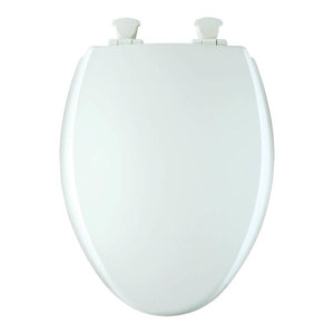 Awesome Church 585Ec 000 Lift Off Wood Elongated Toilet Seat Cjindustries Chair Design For Home Cjindustriesco