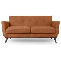 "Kardiel Jackie Mid-Century Modern 67"" Sofa, Full Grain Leather, Cognac"