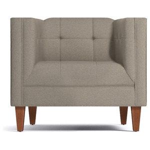 Monroe Midcentury Modern Aniline Leather Arm Chair
