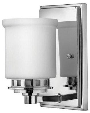 Ashley 1LT by Hinkley   Bathroom Sconce   Bathroom Vanity LightingWall Sconces  Bath Bars    Vanity Lighting. Bathroom Sconce Lighting. Home Design Ideas