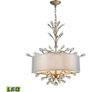 Elk Lighting Asbury 4-Light Led Chandelier, Aged Silver