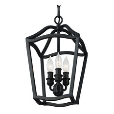 Feiss - Monte Carlo - Yarmouth 3-Light Foyer Pendants Antique Forged Iron -  sc 1 st  Houzz & Iron Pendant Lights | Houzz azcodes.com