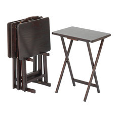 Casual Home   5 Pieces Tray Table Set, Espresso   Tv Trays