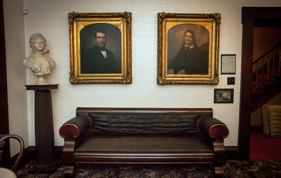 Abraham Lincoln Sat (and Flirted) Here