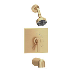 Duro Single Handle Tub and Shower Faucet Trim With Lever Diverter, Brushed Bronz