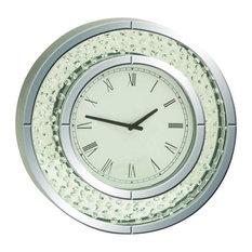 """Wood Mirror Wall Clock 20""""D"""