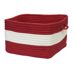 "Rope Walk, Red Utility Basket, 14""X10"""
