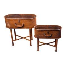 Planter 2-Piece Suitcase Oval