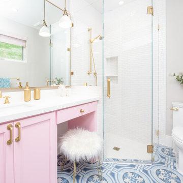 Lucas Ranch - Pink Girly Bathroom