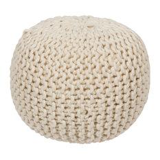 Surya Poufs Sphere Pouf