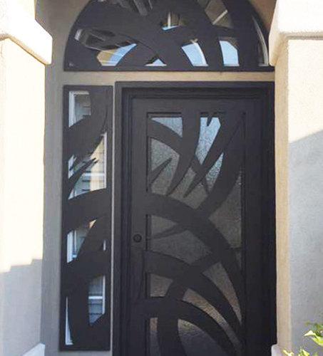 Tunisia Glass U0026 Iron Door   Front Doors