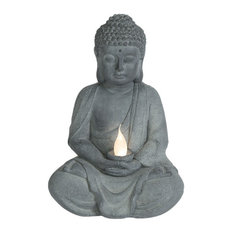Meditating Buddha Statue with Solar Light