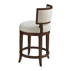 tommy bahama home tommy bahama home island fusion macau swivel counter stools dark walnut set