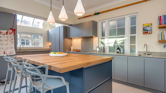Modern Blue Counter Kitchen