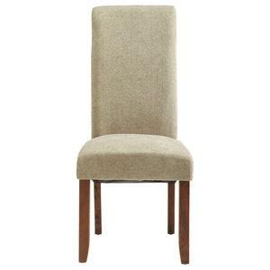 Plain Kingston Chairs With Walnut Legs, Sage, Set of 2