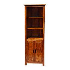 Shaker Solid Wood Open 3-Shelf Curio Cabinet
