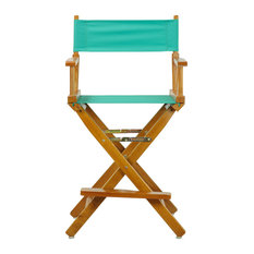 "24"" Director's Chair With Honey Oak Frame, Teal Canvas"