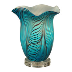 Loyola Hand Blown Art Glass Accent Table Lamp