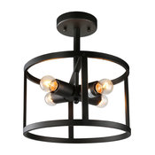 4-Light Drum Ceiling Pendant Lamp