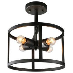 Industrial Flush-mount Ceiling Lighting by LNC Lighting