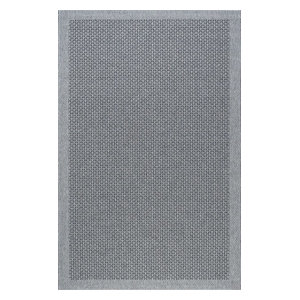 Largo Modern Rectangle Easy-Care Indoor/Outdoor Area Rug, Charcoal, 9'x12'