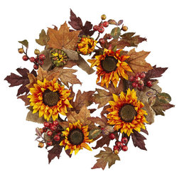 Farmhouse Wreaths And Garlands by Nearly Natural, Inc.