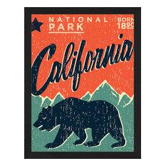 """""""Home of the Bears"""" Framed Art Print, 35x45 Cm"""