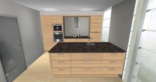 Spüle Oder Kochfeld Auf Der Kücheninsel