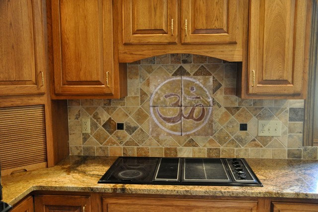 "Kitchen Backspalsh tile : Tumbled marble ""mosaic"""