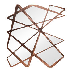 Roots Wall Mirror, 93x100 cm, Copper